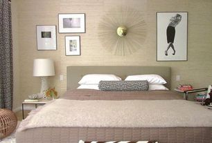 Contemporary Master Bedroom with Mural, Standard height