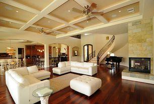 Contemporary Living Room with Pottery Barn Dalton Shag Rug Ivory, Coleman Furniture Noah Tufted Cream Storage Ottoman, Carpet