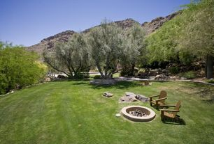 Rustic Landscape/Yard with Pathway, Fire pit