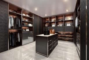 Contemporary Closet with Window seat, simple marble floors, South Shore Flexible 6 Drawer Dresser, Built-in bookshelf
