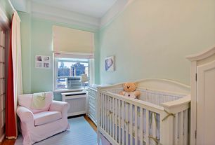 Traditional Kids Bedroom with High ceiling, Hardwood floors