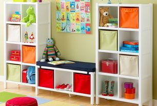 Contemporary Playroom with Laminate floors, Standard height