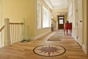 Traditional Hallway with Crown molding, Hardwood floors, Glass panel door, High ceiling, Transom window