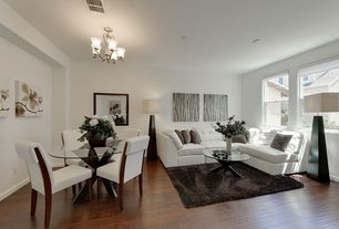 room with Hardwood floors, Chandelier