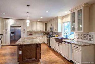 Country Kitchen with Hardwood floors, Access Lighting 96942-120V-5-BRZ/AMM Bronze / Amber Marble Delta 1 Light Mini Pendant