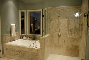 Modern Master Bathroom with Paint1, Subway Tile, Master bathroom, Breckenridge Stria with Glass