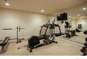Traditional Home Gym with Concrete floors
