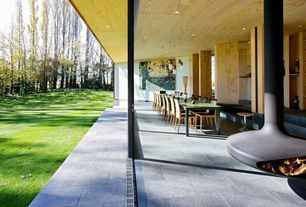 Modern Patio with Pathway, exterior tile floors