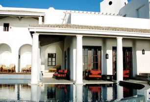 Mediterranean Swimming Pool with Casement, French doors, specialty window, Other Pool Type, Pathway