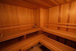 Contemporary Master Bathroom with Western red cedar - sauna, Carpet, Sauna