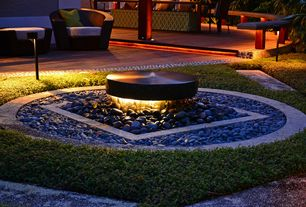 Tropical Landscape/Yard with Pathway, Fire pit, exterior stone floors