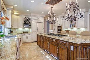 Traditional Kitchen with Troya Marble Tile - Brushed Cappuccino Light, http://www.cabinetnow.com/squared-raised-panel/revere