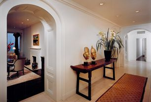 Traditional Hallway with Design Toscano Forbidden City Asian Console Table