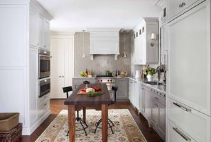 Contemporary Kitchen with Wall sconce, Pendant light, Flat panel cabinets, Sundance Bessemer Adjustable Stool, Kitchen island