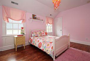 Contemporary Kids Bedroom with Chandelier, Standard height, no bedroom feature, Built-in bookshelf, double-hung window