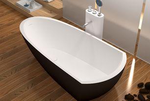 "Modern Master Bathroom with Legion furniture 67.7"" x 32"" bathtub, Hardwood floors, Master bathroom, Freestanding"