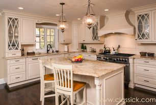 Traditional Kitchen with Crown molding, Pendant light, Breakfast bar, Dura Supreme Cabinetry Arcadia Classic Panel, L-shaped
