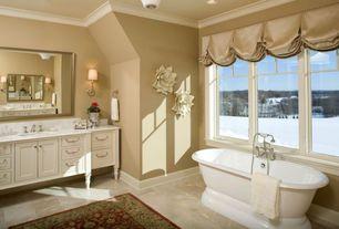 Traditional Master Bathroom with European Cabinets, Flat panel cabinets, Master bathroom, Wall sconce, Undermount sink