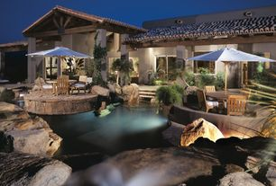 Mediterranean Patio with Other Pool Type, Casement, exterior stone floors, sliding glass door