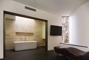 Modern Master Bathroom with Master bathroom, Hardwood floors, Rosabella freestanding bath tub, Freestanding