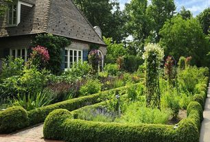Traditional Landscape/Yard with Formal garden