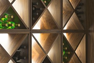 Contemporary Wine Cellar with Standard height