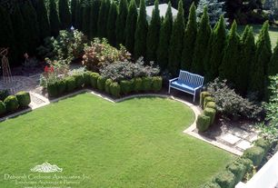 Traditional Landscape/Yard with OnlinePlantCenter 5 gal. 3 ft. Tall Emerald Green Arborvitae Shrub, exterior stone floors
