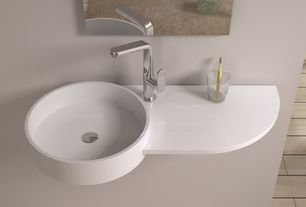 Contemporary Master Bathroom with Nameeks scarabeo wish wall sink with right counter, Paint