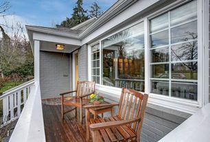 Traditional Deck with Glass panel door, Deck Railing, Fence, specialty window