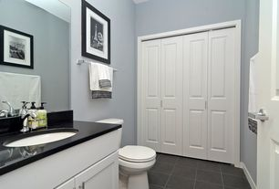 Traditional Full Bathroom with Emser Pietre Del Nord Oregon Matte 12 in. x 12 in. Porcelain Floor and Wall Tile, Paint 1