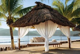 Tropical Patio with Gazebo, Fence, Thefloatingbed.com, Porch swing