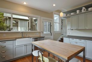 Country Kitchen with dishwasher, Dupont - corian desert, Breakfast nook, double-hung window, Paint 2, Paint 3, Casement