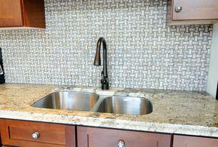 Modern Kitchen with Destiny: Plainview Cabinets, MS International  Barricato Granite, Flat panel cabinets, Flush, One-wall