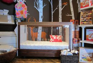 room with Wall decal birch forest with deer and birds, Roh crib