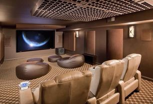 Modern Home Theater with Carpet, Troy Lighting Deep Bronze Sausalito 2 Light Flush Mount Wall Sconce, Wall sconce