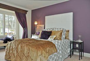 Modern Master Bedroom with Carpet, Standard height, Casement