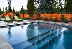 Contemporary Swimming Pool with Concrete tile