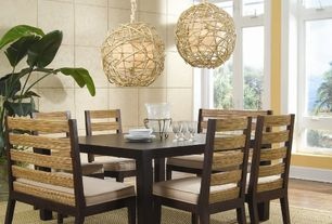 Contemporary Dining Room with Padmas Plantation Park Avenue Side Chair, Hardwood floors, Pendant light