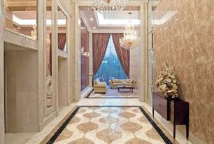 Traditional Hallway with Built-in bookshelf, Signature Design by Ashley Carlyle Console Table, simple marble floors