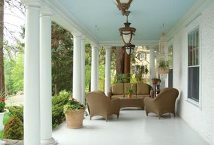 Traditional Porch with exterior tile floors, Paint, Raised beds, Telescope casual lounge chair, Screened porch