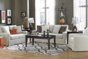 Contemporary Living Room with Hardwood floors, Sofab lily chair and ottoman, High ceiling, Sofab lily sofa