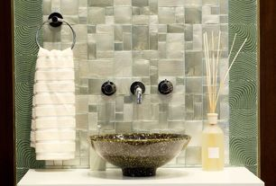 Contemporary Full Bathroom with Jsg oceana vessel bathroom sink, Turkish ribbed hand towel