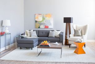 Modern Living Room with Laminate floors
