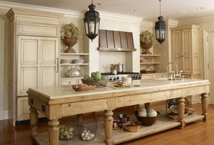 Country Kitchen with French country, specialty door, Kitchen island, KitchenCraft Sheffield Cabinetery, Pendant light, Paint1