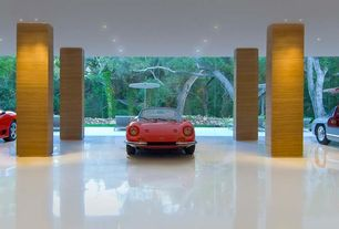 Contemporary Garage with Concrete tile