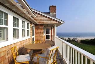 Cottage Deck with Fence, French doors