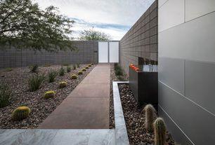 Modern Landscape/Yard with Meta marble & granite slate in brazilian black natural