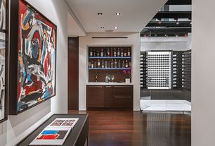 Contemporary Hallway with Joseph & Curtis Custom Wine Cellars