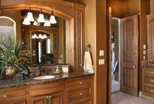 Mediterranean Master Bathroom with Arizona tile, BLACK COSMIC, Granite