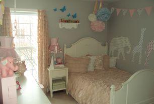 Traditional Kids Bedroom with Limestone counters, limestone floors, Kids bathroom, European Cabinets, Flush